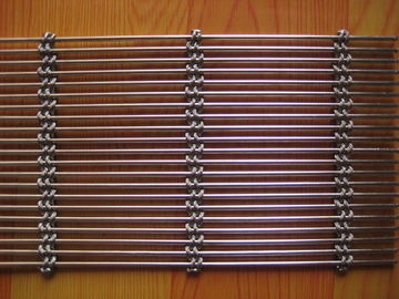 Decorative Architectural Metal Mesh , Stainless Steel Woven Wire Mesh