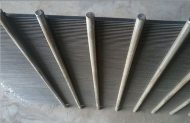 Cylindrical 304/316 Flat Wire Slot Wedge Screen For Screening And Filtration