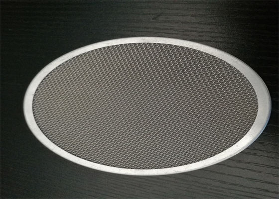 Acid resistance 60 100 Mesh 304 Stainless Steel Edging Disc For Liquid And Air Filtration